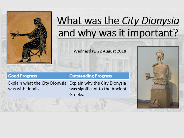 What was the City Dionysia/Great Dionysia and why was it significant?