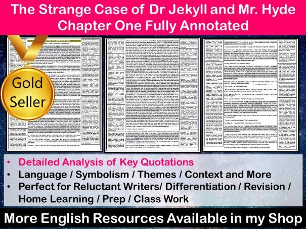The Strange Case of Dr Jekyll and Mr Hyde Chapter 1 Fully Annotated