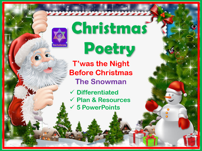 'Twas The Night Before Christmas' Poetry Lessons KS2