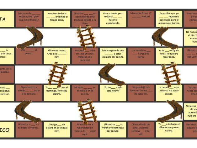 Possibility Modals Spanish Chutes and Ladders Board Game