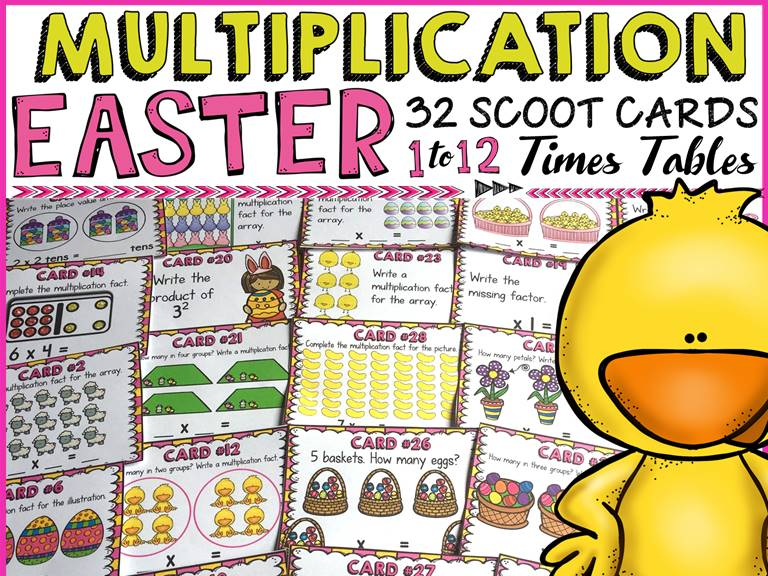 EASTER: MULTIPLICATION SCOOT