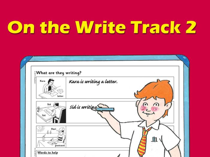 ON THE WRITE TRACK 2
