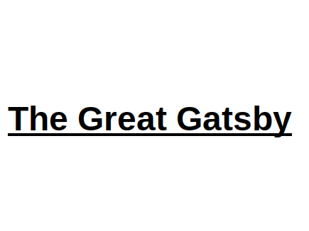 The Great Gatsby English Literature