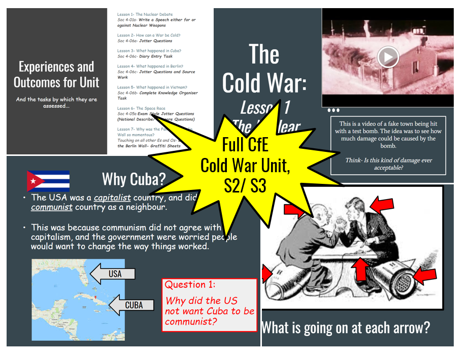 The Cold War- Full Course- Curriculum for Excellence, S2/3 BGE.