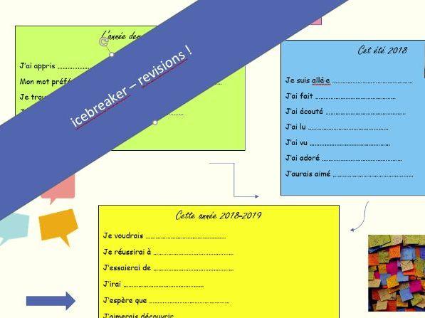 icebreaker - back to school - fun revision activity