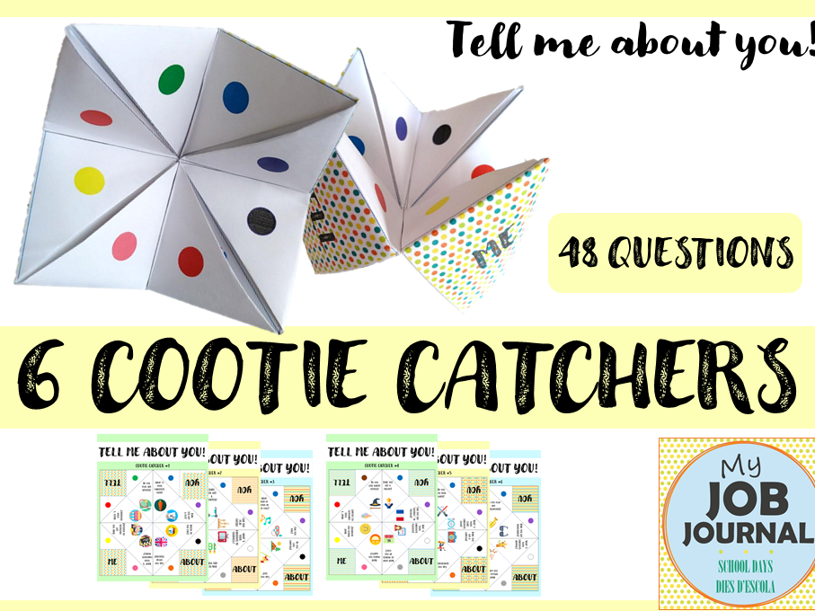 6 COOTIE CATCHERS - Get to know your partner!