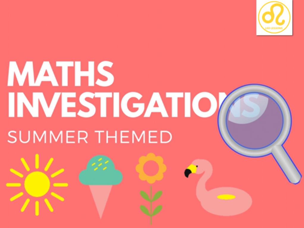 Summer Maths Investigations