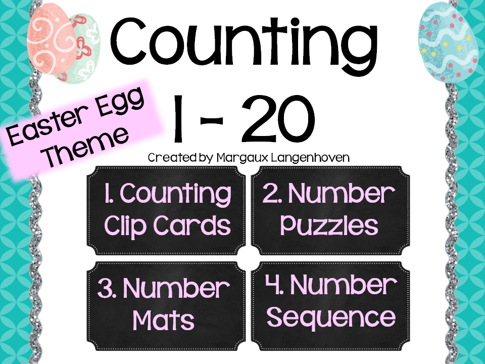 Counting 1 - 20 Easter Eggs