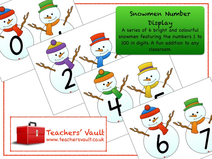Snowmen Number Display