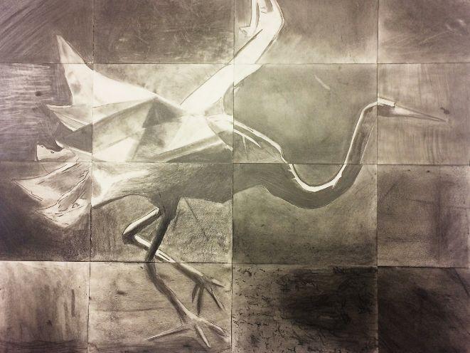 Crane gridded for tonal work