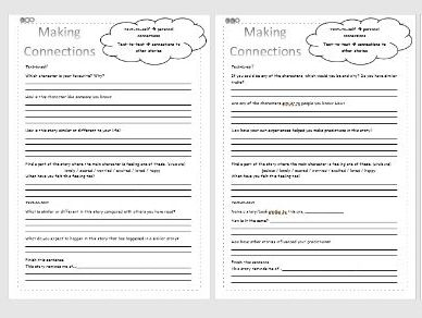 Making Connections Differentiated Worksheets Reading