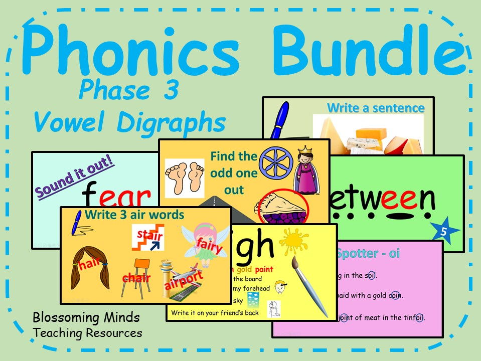 Phonics Phase 3 Vowel Digraph Interactive Lessons
