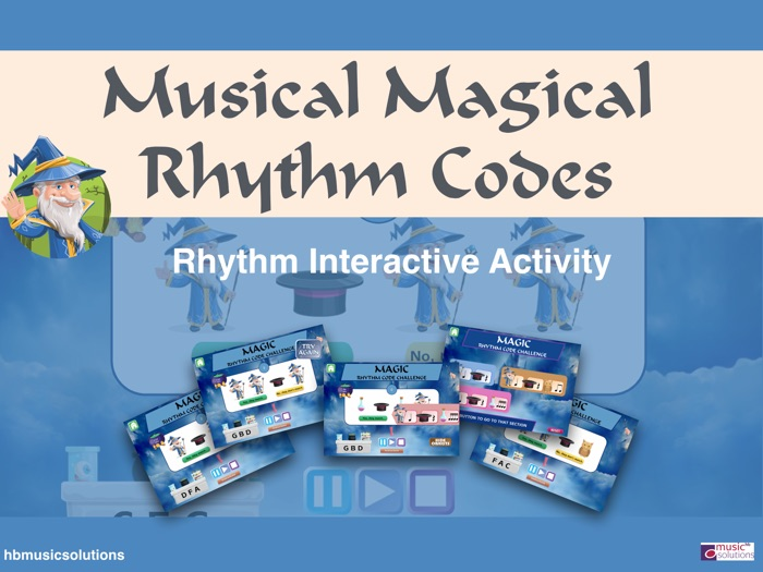 Musical Magical Rhythm Codes - Interactive Activity