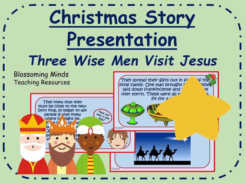 Christmas story presentation - Three Wise Men visit Jesus (Three Kings)