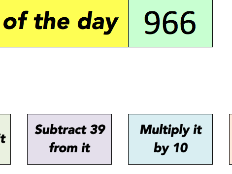 Number of the day (3 digit)