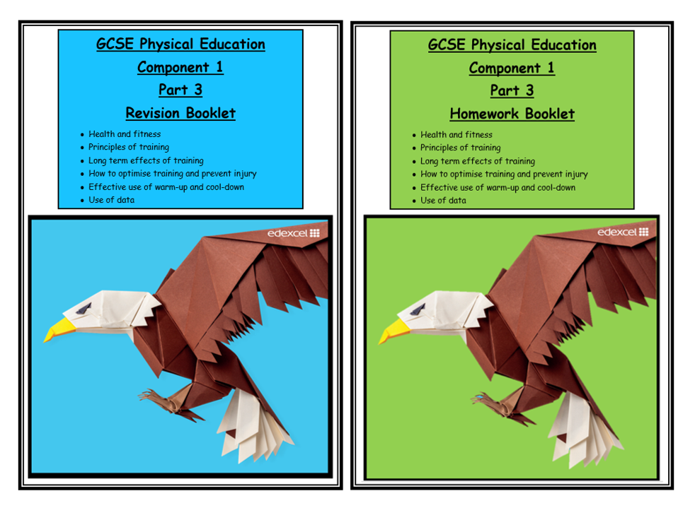 GCSE PE - Edexcel - Revision and Hwk Booklets Part 3