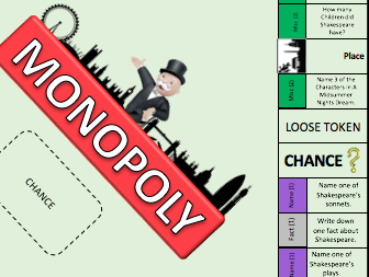 Shakespeare Monopoly Revision