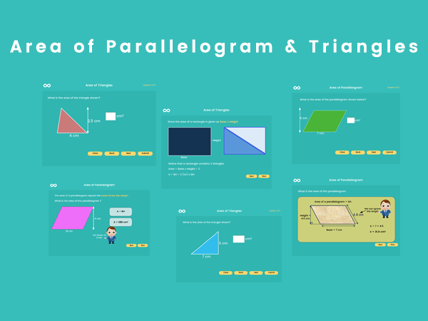 Area of Parallelogram & Triangles - Year 6, Key stage 2 (US 5th grade)