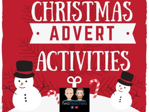 Christmas Adverts 2019 Activity Worksheets