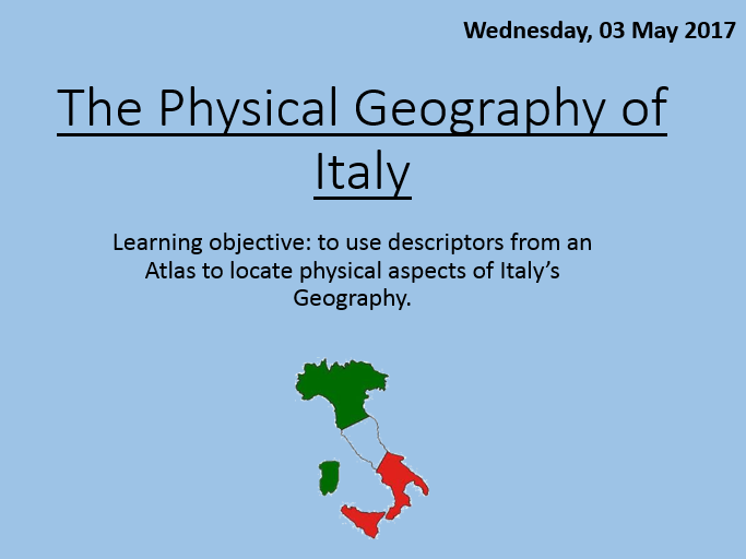 Italy – KS3 SoW with New 1-9 GCSE elements incorporated