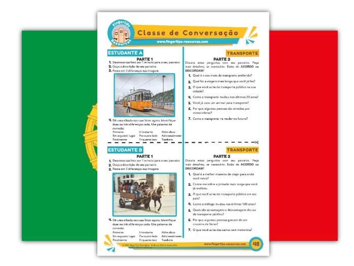 Transporte - Portuguese Speaking Activity