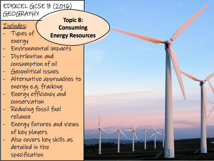 Consuming Energy Resources - Edexcel GCSE Geography B