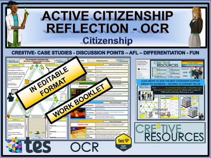 Active Citizenship OCR by thecre8tiveresources - Teaching Resources - Tes