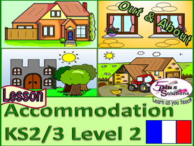 PRIMARY FRENCH LESSON (KS2/3): Types of accommdation, locational environment, ER verb: Habiter