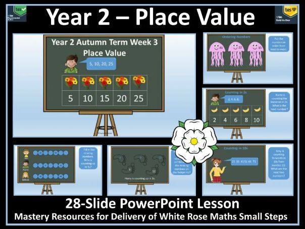 Place Value: Year 2 - Autumn Term - Week 3 - PowerPoint Lesson To Support Delivery White Rose Maths
