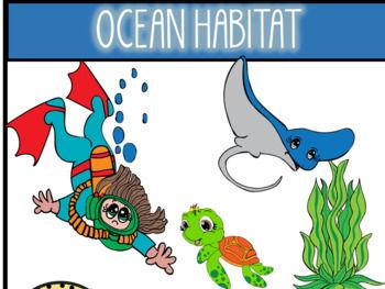 Ocean Habitat Clip Art