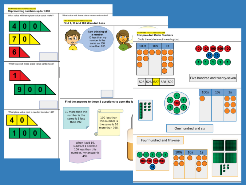 Year 3 Number and Place Value Set