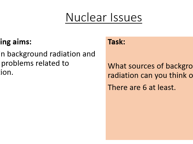 AQA P7.9 Nuclear Issues