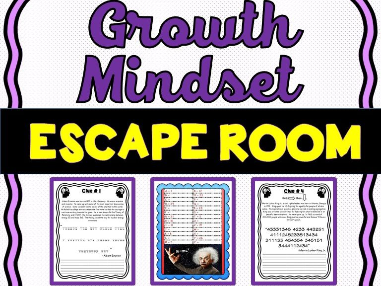 Growth Mindset Escape Room - No Prep!