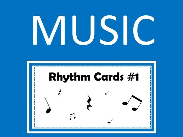 Music Rhythm Cards #1