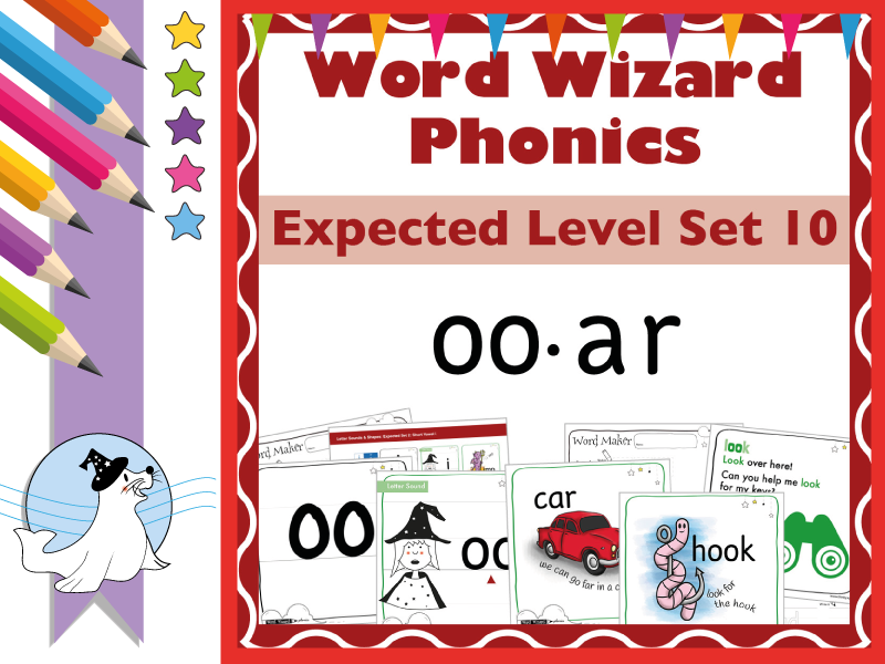 Word Wizard Phonics Expected Set 10: Vowels oo.ar