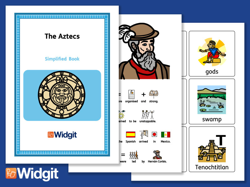 The Aztecs - History Book and Activities with Widgit Symbols