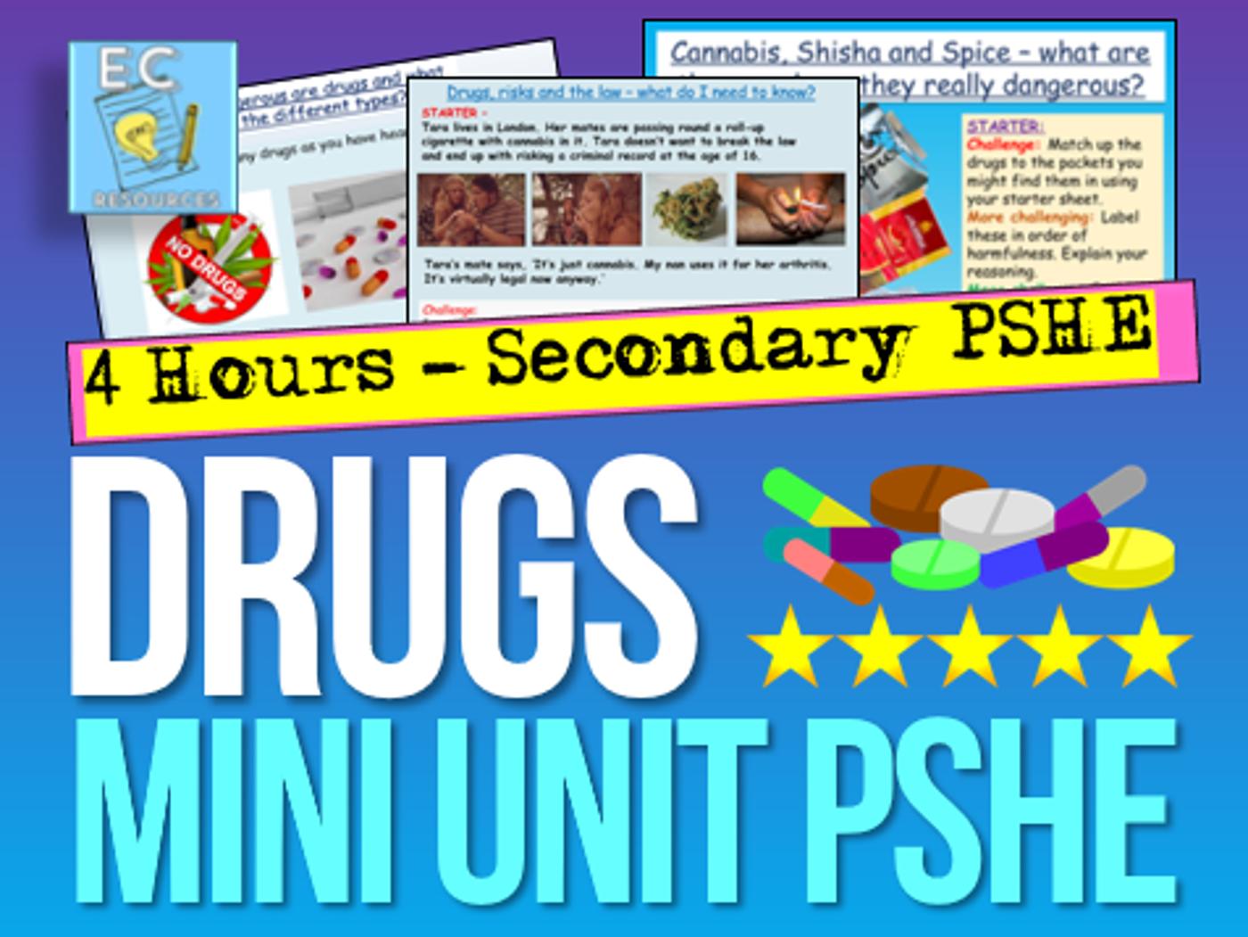 Drugs + Substance Misuse PSHE
