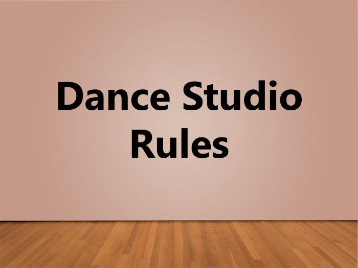 Dance Studio Rules Poster
