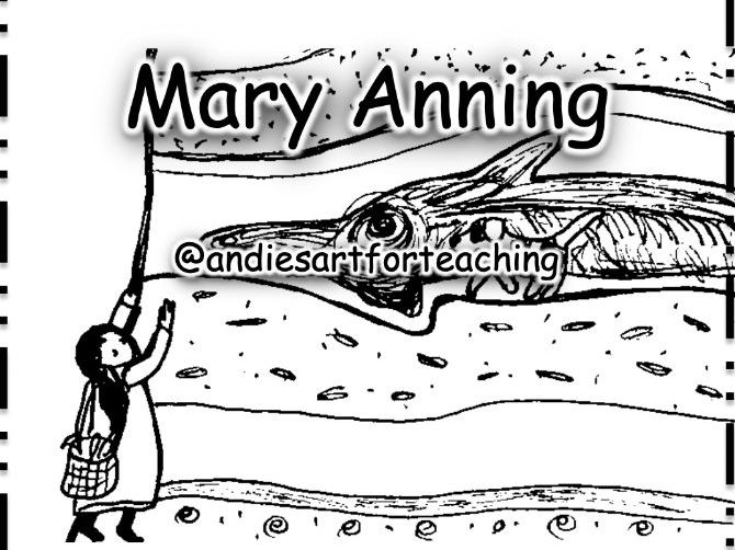 Mary Anning Stone Girl Bone Girl: Cut, sequence, colour + write about the story