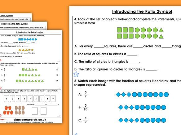 Year 6 Introducing the Ratio Symbol Spring Block 6 Maths Homework Extension