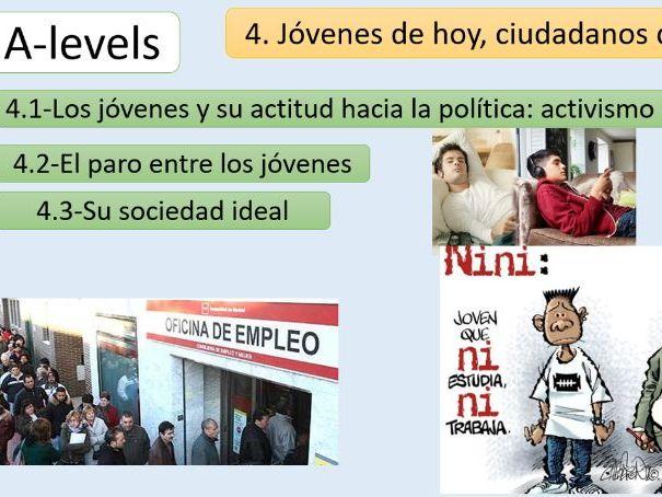"""""""Jóvenes de hoy, ciudadanos del mañana"""" New AQA A Level -PowerPoint"""