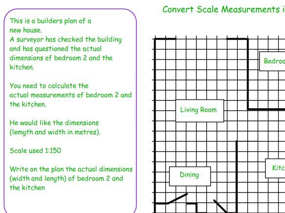 GCSE Maths/Functional Skills Scale Drawing-House and Garden L1-L2