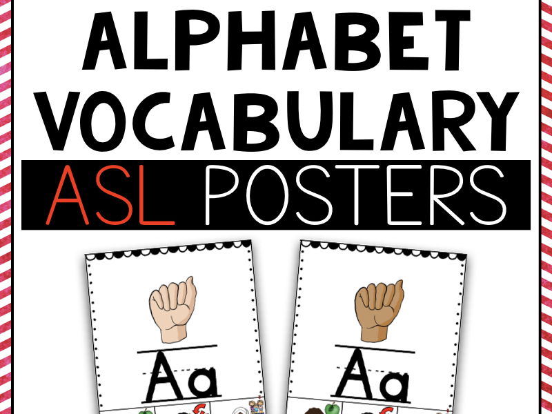 ASL Alphabet Vocabulary Posters