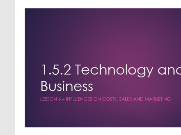 GCSE 9-1 Edexcel Business Studies topic 1.5.2 6 lessons, assessment and  mark scheme
