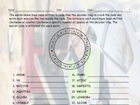 Conditional Sentences Type 3 Decoder Ring Worksheet