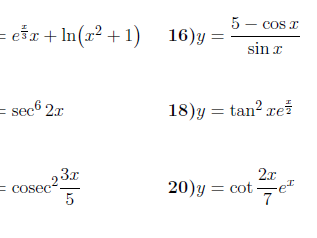 Chain rule worksheet (with detailed solutions)