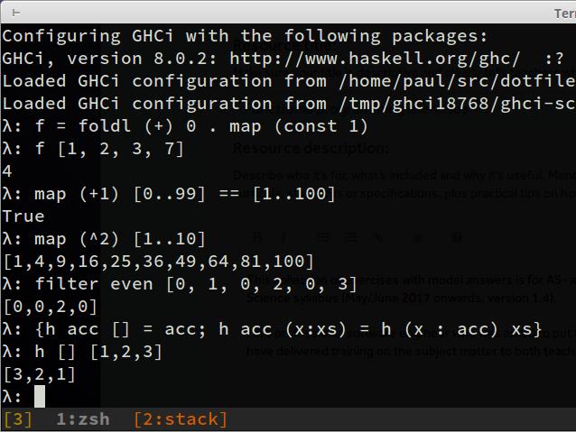 Functional programming exercises