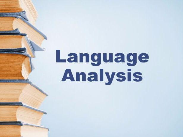 English Language Analysis