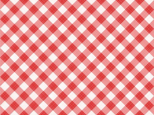 Seamless Red Diagonal Gingham Pattern