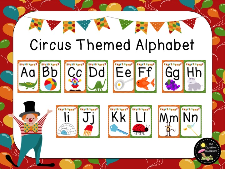 circus themed  alphabet line by anon33169961892175388